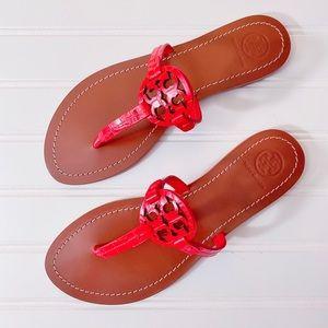 Tory Burch Mini Miller Gabriel Sandal Leather Flat
